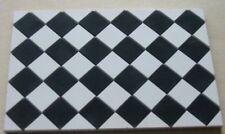 1/12th Black & White Square Quarry Tiles - Dolls House