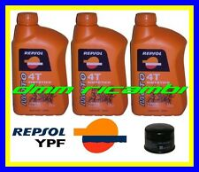 Kit Tagliando HONDA SHADOW 600 04>05 Filtro Olio REPSOL 10W/40 VT 600C 2004 2005