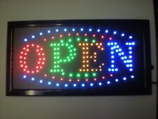 Us seller Slim Animated Led Neon Light Open Window Sign Bright Store Display