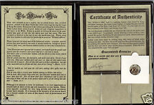"1 - ANCIENT ROMAN COIN ""PRUTAH WIDOW'S MITE"" in THE BIBLE Display Album w/ COA"