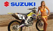 Suzuki Dirt Bike Banner #1- Rm Dm Moto Sign Flag Poster High Quality!