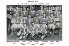 FRANCE 1921 (v Scotland) RUGBY TEAM POSTCARD
