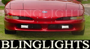 Xenon Halogen Fog Lights Lamps Kit for 1992-1997 Ford Probe foglights 92 93 94