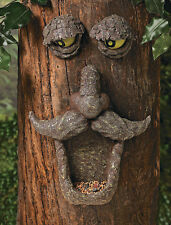 Birdfeeder Tree Face Sculpture Glow in the Dark Outdoor Yard Garden Hugger Decor