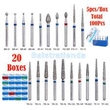AZDENT Dental Diamond Burs for High Speed Handpiece 20 types/100pcs
