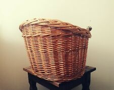 BICYCLE BASKET WICKER FRONT NATURAL WITH HANDLE LARGE
