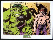 The Incredible Hulk Stamps Souvenir Sheet Mnh 1999 Madagascar Marvel Comics