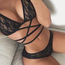 Women's Thin Lace Underwear Push Up Bra Sets Briefs Panties 2PCS Set Lingerie