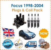 For Ford Focus 1.4 1.6 1.8 1998-2004 Ignition Spark Plugs & Ignition Coil Pack