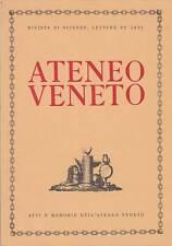 STORIA ATENEO VENETO ANNO 1994 182° ATTI E MEMORIE