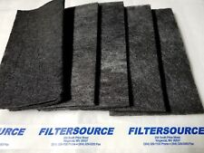 """Paint Booth Carbon Odor VOC Adsorption Filters 20x20x 1/2"""" Double carbon 10 pack"""