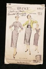 Vintage ORIGINAL Ladies Dress Pattern 1950s Era Bust 34 Advance 6802