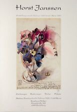 Horst Janssen, Ausstellungsplakat, Offsetdruck, Kunsthaus Welker, signiert