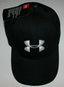 Boys Sz 4-6 Youth Hat Under Armour Black Cap  Adjustable strap New w tags