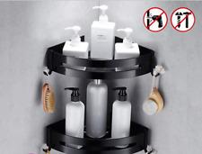 Black Bath Accessories Space Aluminum Shower Caddy Wire Basket Storage Shelves