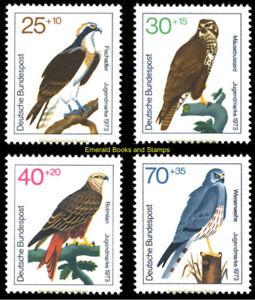 EBS Germany 1973 Youth - Birds of Prey - Jugend Greifvögel Michel 754-757 MNH**