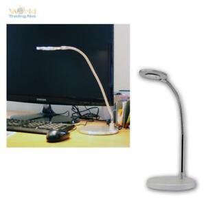 LED Desk Light Reading Lamp 230V/3W Reading Light Table Desk Lamp Chrome Matte