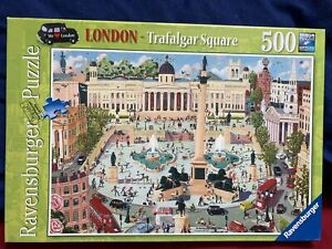 Ravensburger London Trafalgar Square Puzzle 500 Piece Completed Once From New