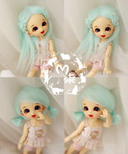 "5-6"" 14cm BJD fabric fur wig Water Blue for AE PukiFee lati 1/8 Doll"
