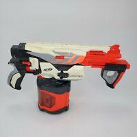Nerf Vortex Pyragon Disc Blaster Shooter Gun w/ Large 40 Disc Drum
