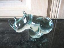GLASS RHINO FIGURINE - UNBRANDED