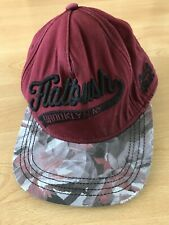 Designer PULL & BEAR FLAT BUSH Brooklyn NY Baseball Cap One Size Red Mix