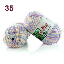 Hot 55 Ccolors Soft Bamboo Crochet Cotton 50g Knitting Yarn Baby Knit Wool Yarn