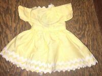 Vtg Doll Mary Hoyer Dress Yellow Rick Rack