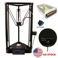 US Stock ANYCUBIC 3D Printer Kossel Plus Linear Guide Delta Kit 230x230x270mm