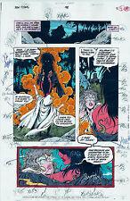 NEW TITANS COMICS #98 OG COLOR PRODUCTION ART SIGNED ADRIENNE ROY COA PG 8
