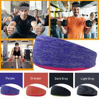 Mens Women Sweat Sweatband Headband Yoga Gym Running Stretch Sports Hairband