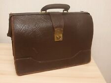 Vintage Tan Leather Briefcase.