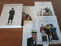 DELUXE SET OF the ELTON JOHN SEPTEMBER 1988 SOTHEBY'S AUCTION CATALOUGES