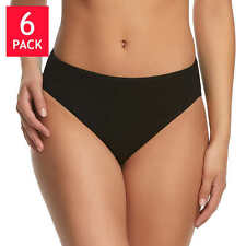 Felina Cotton Stretch Hi-Cut Bikini 6 panties~BRAND NEW-Factory Sealed Un-Opened
