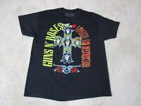 NEW Guns N Roses Concert Shirt Adult Medium Black Rock Music Band Tour Mens