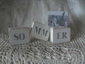 deko,shabby,nostalgie,freundin,vintage,home,geschenk,landhaus♥HOLZWÜRFEL  SOMMER