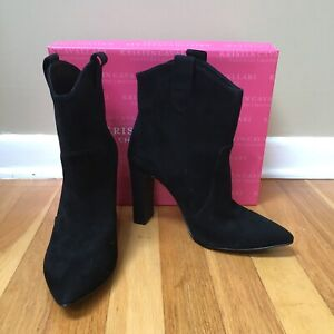 Kristin Cavallari for Chinese Laundry 'Karly' Black Suede Booties Size 8.5M $199
