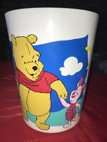 """Vintage DISNEY Winnie The Pooh & Piglet Trash Can Garbage Waste Basket 10"""" Tall"""