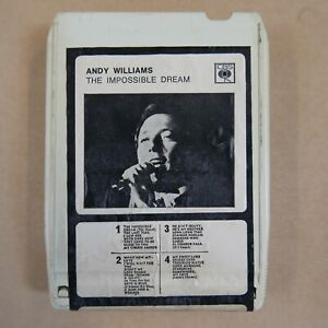 8 track cartridge ANDY WILLIAMS the impossible dream ,  NOT SERVICED