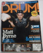 Drum! Magazine Hatebreed's Matt Byrne & Drum Microphones October 2006 082115R