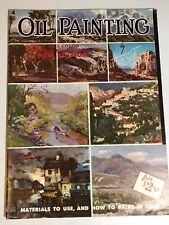 Vintage WALTER FOSTER How To OIL PAINTING All Color 40 Page HOW TO BOOK Art