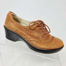 Alegria ETT-222 Women's Shoes Size 37 EU 6-6.5 US Burnt Orange Oxfords Lace Up