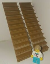 2x 1:24th Scale Floating Staircase. 9.5mm x 9mm steps. 40mm wide. Brown