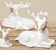 Weihnachtsdeko Weisses Porzellan.Hirsch Weiß In Weihnachtliche Figuren Günstig Kaufen Ebay