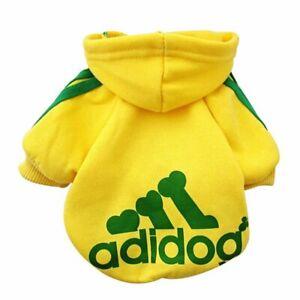 Dog Hoodies Adidog Clothes Fleece Hoodie Sweater Cotton Jacket Sweat Small Dog