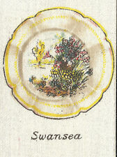 Vintage tobacco cigarette silk card -Swansea Painted Plate - Chairman Cigarettes