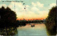1910. LAKE AT WASHINGTON PARK, EL PASO, TX. POSTCARD RR2