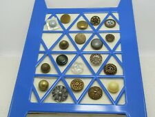 Vintage Victorian to 1930's 19 Button Lot, Brass, MOP, Lucite, Plastic, Plus
