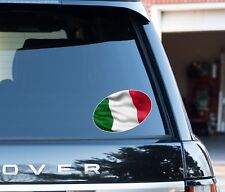 Italian Flag oval Decal Sticker Car, Van, Laptop suit case Rugby ball 6 nations
