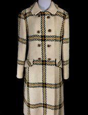 Youthcraft Wool Coat Green Gold Beige Tweed Faux Pockets